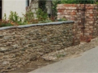 reclaimed bricks and reclaimed walling stone